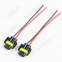 Wholesale H11 H8 Halogen headlight bulb pigtail connector cm wire automobile lamp holder socket cable adapter