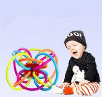 Wholesale Sale Teethers Rattles teethers Rattle and Sensory Teether Color Baby Teether Ball Activity Rings Baby Feeder Silicone Teething Baby Toys