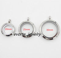 Wholesale High Quality mm mm mm L Stainless Steel Screw Top Open Floating Pendant Living Locket no chain
