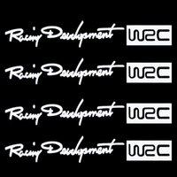 Cheap 4Pcs Set Racing Development WRC Car Sticker Auto Door Knob Handle Decals Reflective Stickers White Free Shipping Drop Shipping
