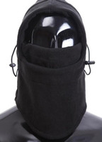 Wholesale whole sale black polar fleece outdoor sports cs Skullies winter hat