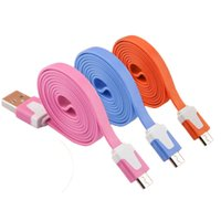 bb iphone - 1M NOODLE MICRO USB CHARGER CABLE SONY DATA CHARGING CABLES CORD WIRE LINE FOE SAMSUNG HTC HUAWEI BB