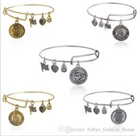 alloy adjust - 60PCS New Alex and Ani Saint Bracelet Brand Charm Bangles Bracelets Summer Style Crystal Disc Adjust Bangles For Women Gift Jewelry BFH801