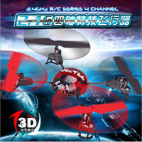 aircraft stunts - medium helicopter four axis control aircraft rc drone flying saucer stunt roll wind the remote control plane quadrocopter