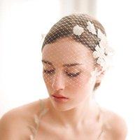 Wholesale 2015 Flowers Birdcage Short Face Veils Bridal Accessories Wedding Stone For Bridal Headpiece Bride Hair Headpieces CPA115