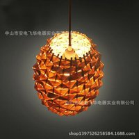 bamboo lamp shades ikea - Nordic IKEA creative handmade chandelier bamboo cages shade restaurant caf bar chandelier lamp made