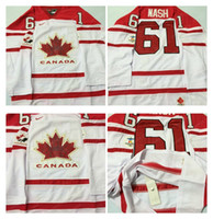 Cheap Mens #61 Rick Nash White 2010 Canada Team Vancouver Winter Olympic Hockey Jerseys Ice International Sports Stitched Premier Authentic