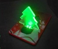 Wholesale Christmas tree Led Card Light Portable Led Light Novelty Tree Led Lamp LED kids toys for Christmas gift