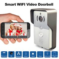 Wholesale DBV01P Smart Wifi Video Doorbell HD720P IR Night Audio Wireless Camera for Smart Phone Pad