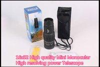 Cheap Wholesale-16x52 High quality Mini spy Monocular telescopio optical len 16x zoom magnification HD peeper telescope monocular Free shipping