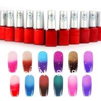 Wholesale 12pcs Hot ML Temperature Color gelpolish Change Nail Art Soak Off Color UV Gel Polish color Choose