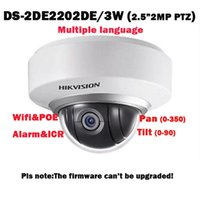 Wholesale Hikvision DS DE2202 DE3 W MP Mini PTZ WIFI IP POE Dome Network CCTVCamera