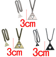 Wholesale 2015 Fashion Legend of Zelda Necklace The Triforce Anime Triforce Metal Figure Pendant Necklace For Women s Men Statement Necklace Jewelry