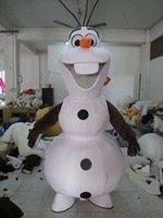 Wholesale EMS FREE Frozen queen Cartoon walking dolls Smiling Olaf Mascot Costume Cartoon Character Costume Animal C