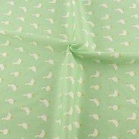 acrylic scrap - 50cmx160cm piece green cartoon goose design cotton fabric quilting bedding tecido telas scrap booking patchwork sewing cloth