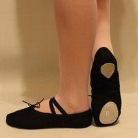 Wholesale Hot Unisex Women Men Dance Gymnastics Shoes Canvas Ballet Shoes Slippers Size