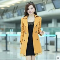 army trench coat - 2015 spring new large size women Slim Women Fashion jacket Double breasted Trench Coats Women s casual jacket