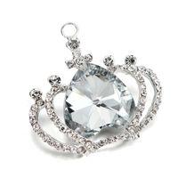 ab crowns - Fashion Jewelry Pendants Clearance Sale mm Silver Plated AB Rhinestone Crown Pendant Princess Girls Chunky Bubblegum Necklace Pendants