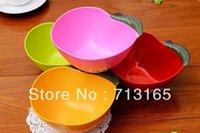 apple salads - high quality Color plastic bowl salad bowl apple shape creative multi purpose bowl