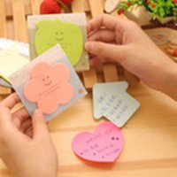 Wholesale 100 Sheet Cartoon Character Variety Shape Multicolor Sticky Paper Notes SN039