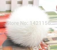 shoes hats caps - white Rabbit fur pom poms D7 for Skullies Beanies hats caps shoes clothes real fur balls natural fur pompoms free ship