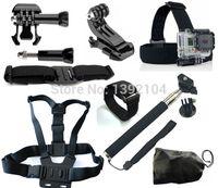 Wholesale Go pro Kit Go pro Hero hero3 Hero3 Black edition Acessories Monopod Chest helmet Wifi strap Mount Sj5000 Sj4000 Accessories