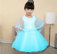 Wholesale Manufacturers accusing Romance Frozen ice girls dress skirt cloak two sets of batch