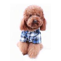 Capas superiores del traje España-Camiseta de la tela escocesa del animal doméstico Camiseta de la chaqueta de la chaqueta del perrito del perro Ropa de la capa de la solapa del traje