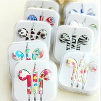 painting studio - Cost Price In Ear mm Painting Headset DJ Music Pattern Headphone With Mic Volume Control for Apple iphone s Plus Universal Earbuds