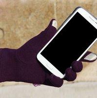Wholesale Vogue Womens Ladies Cashmere Mirco Velvet Touch Screen Warm Gloves amp Mittens