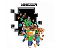 Wholesale 3D Cartoon Decorative Stickers Minecraft Wall Stickers Creeper Removable Tile Stickers Wallpaper