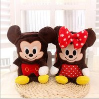 auto blanket - cm Cute Mickey amp Minnie Flannel Air Conditioning Blanket Dual Plush Toy Car Auto Nap Pillow Cushion Retail