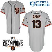 aria free - Customized San Francisco Giants Mens Jerseys Joaquin Arias Grey Baseball Jersey