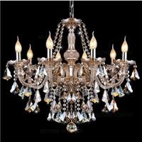 ballroom chandeliers - Modern Crystal Chandelier Lighting Cognac Candle Pendant Lights Living room Restaurant Hotel Villa Hotel Ballroom Pendant Lamp