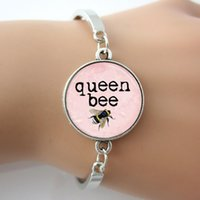 bee bangle - Queen Bee Bangle Honey Bee Bumblebee Insect Light Pink Art Pendant Bangle Fashion H Bracelet For Women GL008
