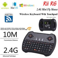 Wholesale V6A R6 Mini Wireless Keyboard remtoer G with Touchpad Keyboard for MXQ Pro M8S S905 Android TV Box