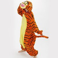 adult sleeper pajamas - Hot Sale Adult cartoon animals sleeper Cosplay tigger Couples dress that occupy the home Performance clothing pajamas