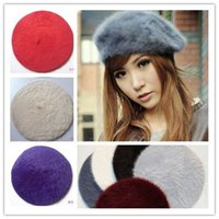 Wholesale Top Quality NEW ARRIVAL women cony hair berets ladies Autumn Winter Warm Beanies hats winter caps by DHL