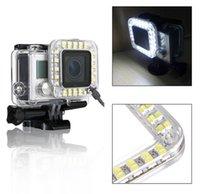 Wholesale Go pro Accessories LED Fill Light Mount Gopro Hero Housing Lens FOR Go Pro Hero3 Camera