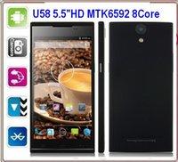 Cheap U58 MTK6592 Octa Core New 5.5 inch IPS Star Ulefone U5 U5+ Mobile Phone Dual Sim Dual Camera A-GPS 3G GPS u5 phone