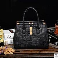 designer crocodile handbags - 2015 New Fashion Women Bags Crocodile Plain Clore Designer handbags Women Handbags Cross body Bag For Women Handbag