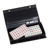 Wholesale 2015 New Mini Chinese Mahjong White Tile Mini Travel Set For Best Gift And Entertainment Tools