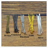 Wholesale pc mm Metal Flat Head Pins Needles Bronze Rhodium Gold Silver DIY Jewelry Findings Making Accessories Y702