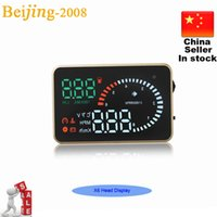 Wholesale X6 inch Auto Car HUD Head Up Display Fuel Consumption Overspeed Warning Windshield Project Alarm System OBDII OBD Interface