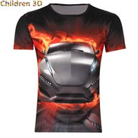 atomic cars - Sport Car Print Creative Cool Children D T Shirt Summer Funny T Shirt For Boys Girls Kids Explosion Atomic Bomb T Shirts