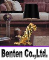 ac leopards - Leopard Table Lamps European Modern Style Resin Leopard Table Lamp Bedroom Lights Hotel Lights LLFA4155F