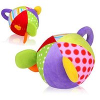 baby puzzle ball - Hot Baby Grasping the Cloth Ball Puzzle Plush Toys Lathe Hanging Bell Ball New
