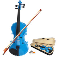 Wholesale High Quality New Acoustic Violin Dark Blue amp Case amp Bow amp Rosin for Violin US Y00273