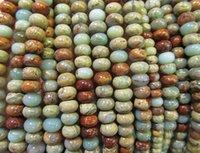 aqua terra jasper beads - High Quality strands mm Natural Aqua Terra Jasper gemstone rondelle abacus wheel heishi rainbow jewelry beads