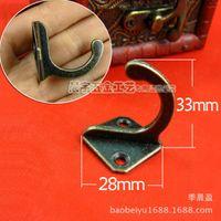 antique shoe hook - C112 Antique C Quartet hooks coat hooks single hook modern Chinese wall hook double hook batch shoe